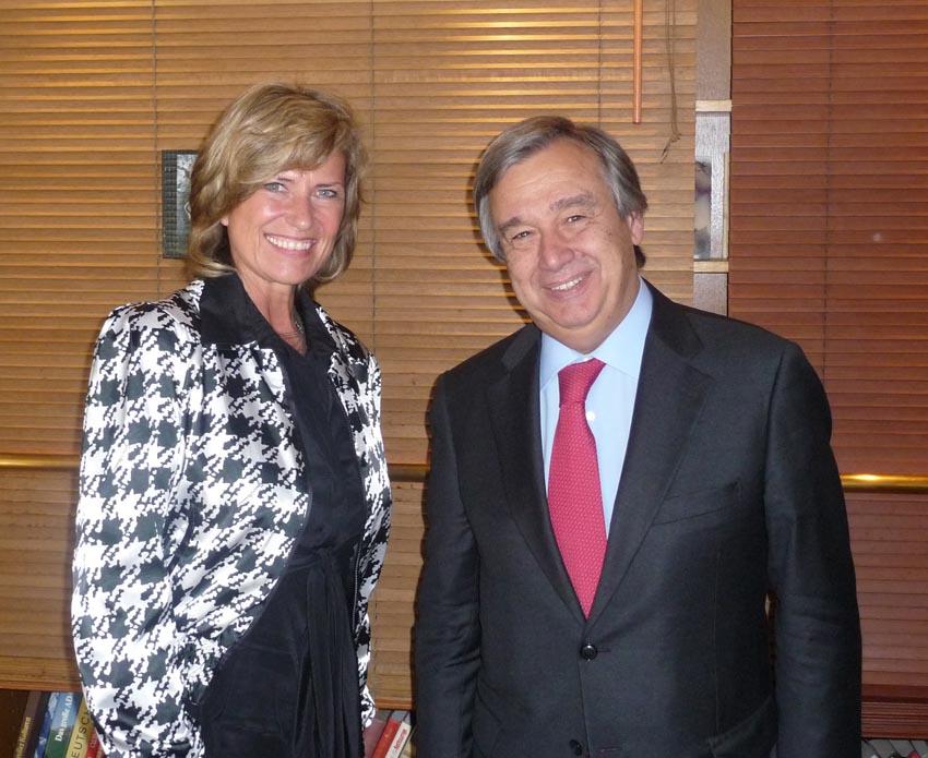 Dagmar G. Wöhrl und UN-Flüchtlingskommissar Antonio Guterres Dagmar Wöhrl 15. Juni 2011