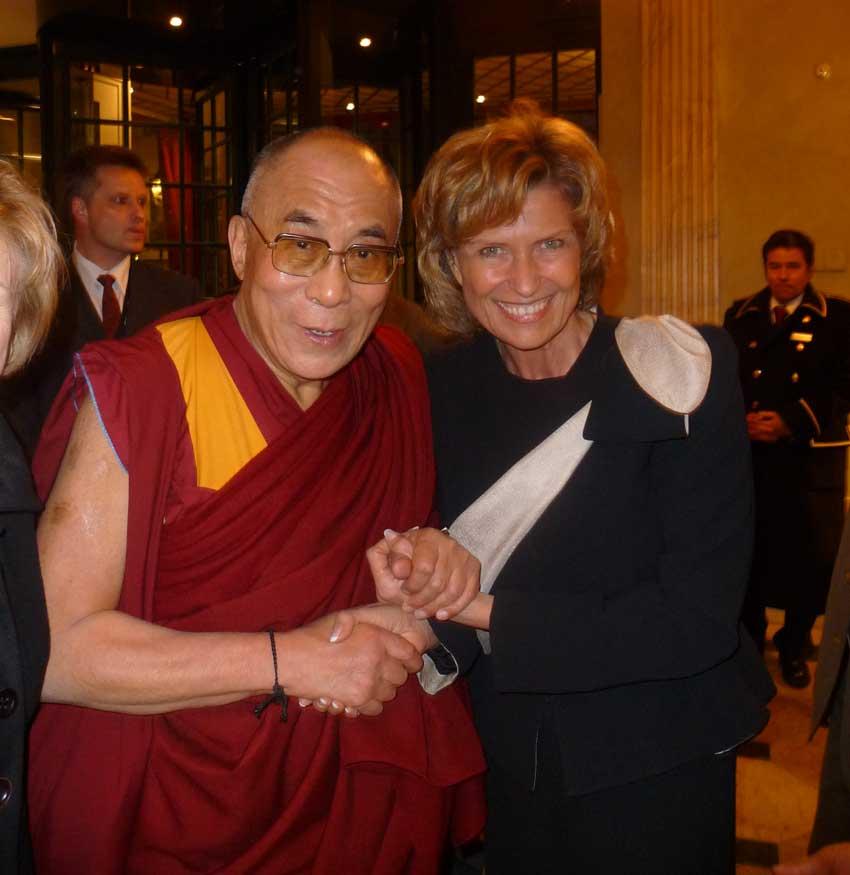 Dagmar Wöhrl trifft den Dalai Lama. Dagmar Wöhrl - 21. September 2010.