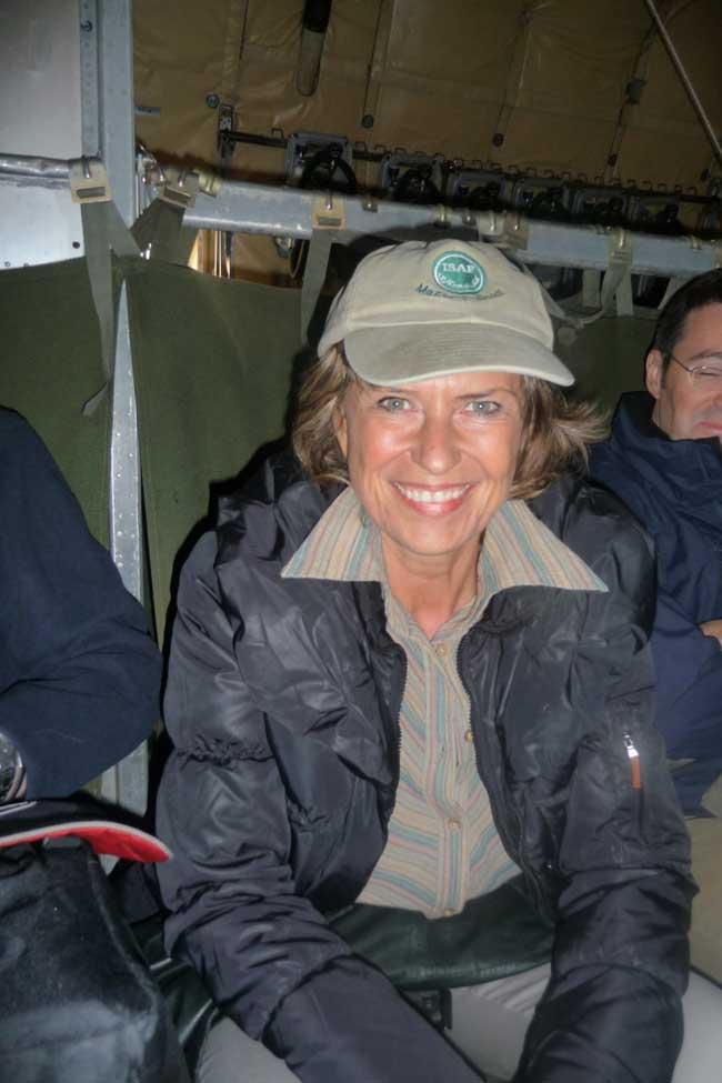 Dagmar Wöhrl auf Afghanistan Reise. Dagmar Wöhrl - 22. Dezember 2010.