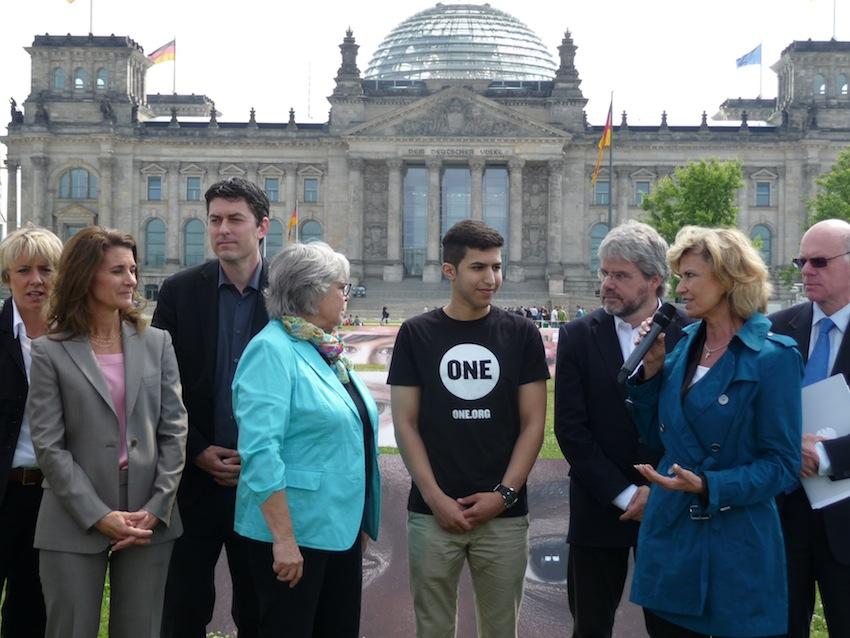 Melinda Gates und Dagmar Wöhrl bei ONE-Veranstaltung in Berlin.