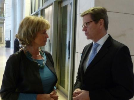 Gemeinsame Unterstützung für Abdolfattah Soltani – Treffen mit Außenminister Westerwelle