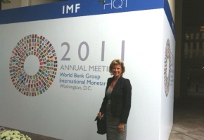 Dagmar Wöhrl nahm an der Jahrestagung der Weltbank und des Internationalen Währungsfonds (IWF) in Washington im September 2011 teil.