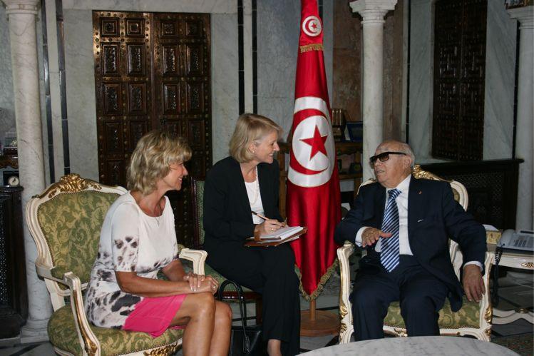 Dagmar G. Wöhrl trifft tunesischen Ministerpräsidenten. 17. September 2011