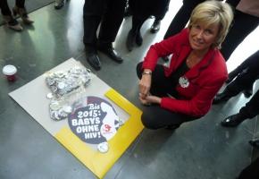 Dagmar Wöhrl bei der Vorstellung der entwicklungspolitischen Kampagne