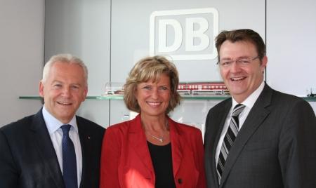 Dagmar Wöhr, Michael Frieser und  Dr. Rüdiger Grube. 07. Juli 2011