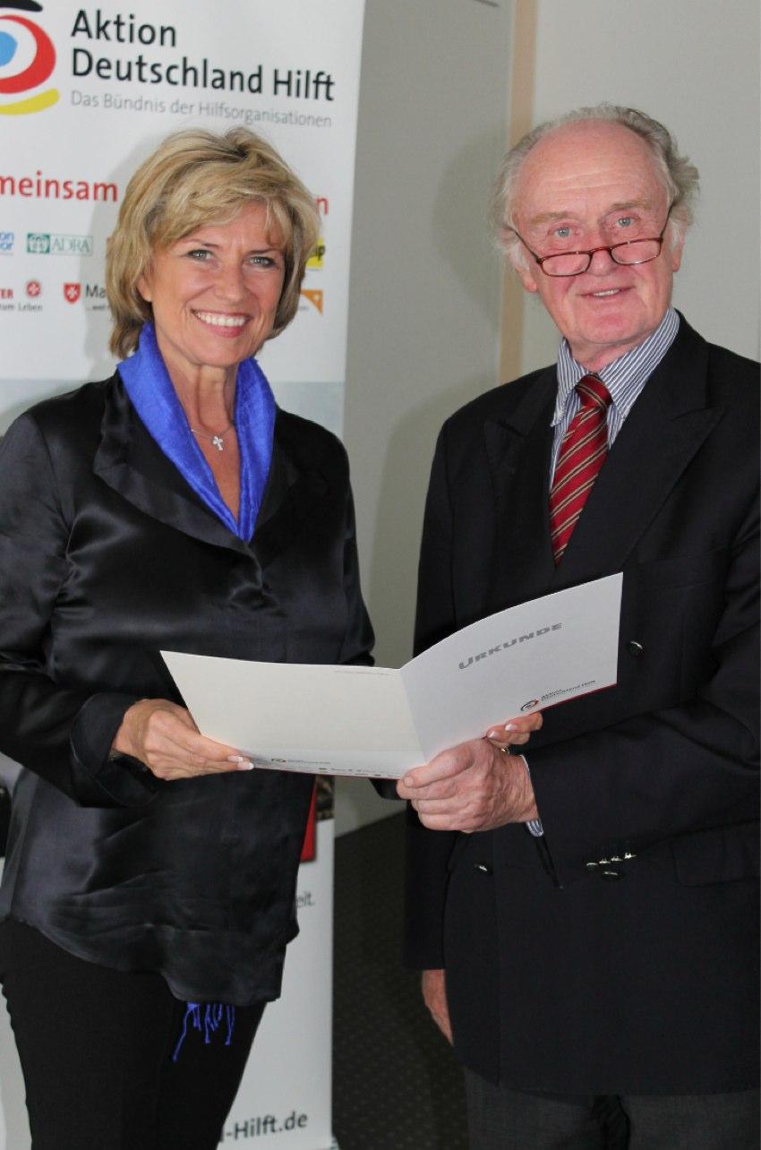 Dagmar Wöhrl wurde in das Kuratorium des Aktionsbündnisses Deutschland Hilft (ADH) berufen
