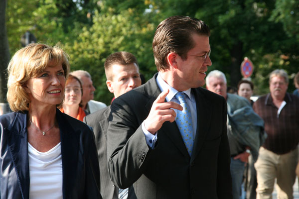 Dagmar Wöhrl - 21. September 2009 Dr. Karl-Theodor zu Guttenberg zu Besuch in Nürnberg