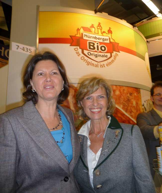 Dagmar Wöhrl und Ilse Aigner auf der Eröffnung der BioFach 2010 in Nürnberg. Dagmar Wöhrl - 18. Februar 2010 Nürnberg.