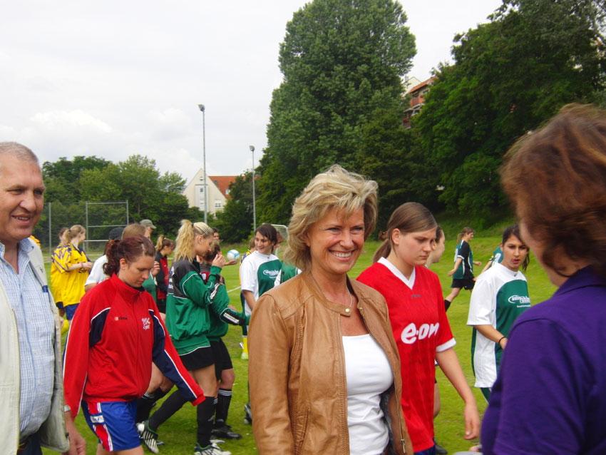 Dagmar Wöhr auf dem Amateur Frauen Fußball Turnier in Nürnberg zu Eröffnung der Frauen WM 2011. Dagmar Wöhr, 6. Juli 2011