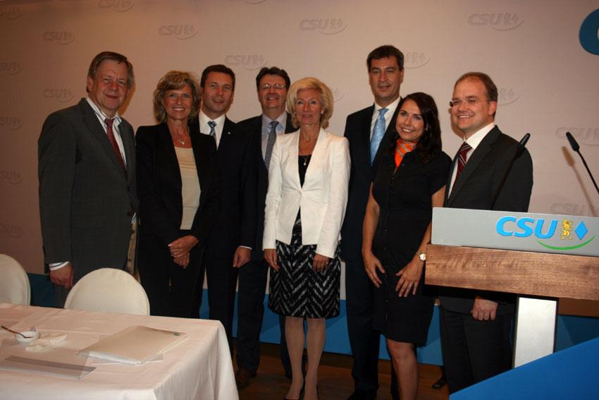 Dagmar Wöhrl und die Nürnberger CSU-Familie