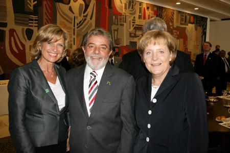 2008.05 Dagmar Wöhrl Angela Merkel Lula da Silva