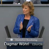 Dagmar Wöhrl im Bundestag, Februar 2010