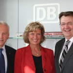 Nürnberger Bundestagsabgeordnete Dagmar G. Wöhrl und Michael Frieser setzen sich für DB Museum ein - Gespräch mit DB-Chef Grube