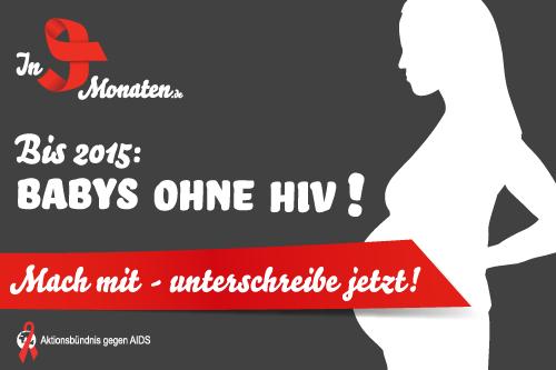 """Dagmar Wöhrl setzte sich am 30. November 2011 für die Kampagne """"Bis 2015: Babys ohne HIV!"""" des Aktionsbündnis gegen AIDS und der Kampagne """"In 9 Monaten.de"""" ein."""