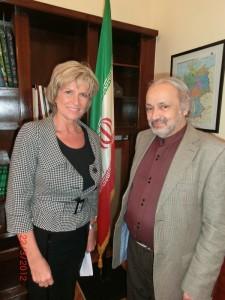 Dagmar Wöhrl und der iranische Botschafter in Deutschland, Alireza Sheikh Attar.