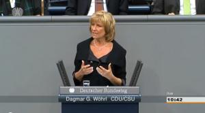 Dagmar G. Wöhrl spricht im Bundestag zur Entwicklungspolitik der Bundesregierung