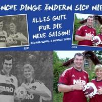 08. August 2013 Manche Dinge ändern sich nie. Wöhrl und Söder wünschen 1. FC Nürnberg viel Erfolg für die neue Bundesligasaison.