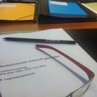 Dagmar Wöhrl. Der Koalitionsvertrag zwischen CDU, CSU und SPD steht. Klare Handschrift der CSU.