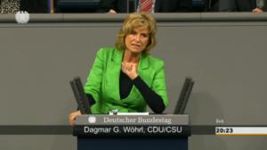 Dagmar G. Wöhrl spricht im Bundestag zu TOP 1 Wirtschaftliche Zusammenarbeit und Entwicklung