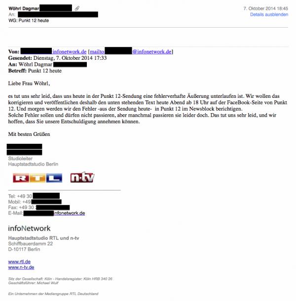 RTL-Facebook-Punkt-12-Gegendarstellung Email