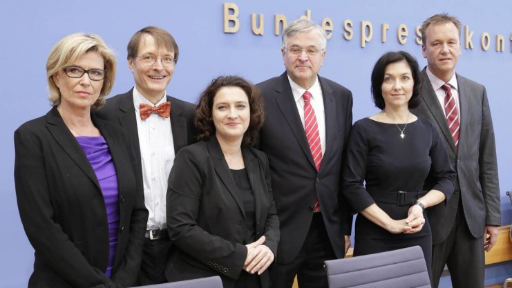 Peter Hintze, Dr. Carola Reimann, Prof. Dr. Karl Lauterbach, Burkhard Lischka, Katherina Reiche, Dagmar Wöhrl