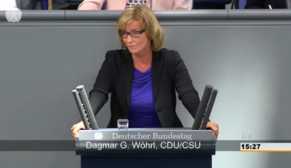124. Sitzung vom 24.09.2015 Wöhrl, Dagmar G. (CDU/CSU) Aktuelle Stunde auf Verlangen der Fraktionen der CDU/CSU und SPD Neue Dynamik zur politischen Lösung der Syrienkrise nutzen Quelle: Bundestag TV