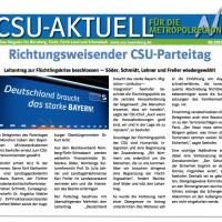 CSU-AKTUELL online Magazin für Nürnberg, Fürth, Fürth-Land und Schwabach #12-2015