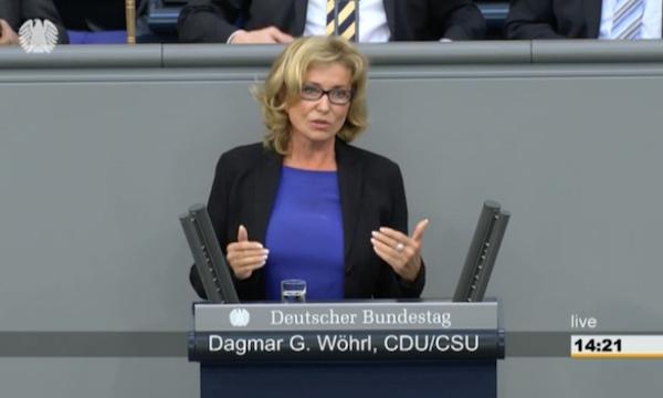 149. Sitzung vom 14.01.2016 Wöhrl, Dagmar G. (CDU/CSU) Aktuelle Stunde auf Verlangen Die Linke. Fortgesetzte Militärkooperation mit Saudi-Arabien und der Türkei Quelle: Bundestag TV