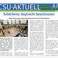 CSU-AKTUELL online Magazin für Nürnberg, Fürth, Fürth-Land und Schwabach #03-2016
