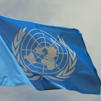 Blaue Flagge der UN United Nations Organisation von FedeCandoniPhoto / photodune-5073024