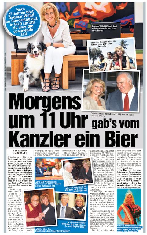 Nach 23 Jahren hört Dagmar Wöhrl im Bundestag auf. In BILD spricht sie über die spannende Zeit. - BILD Nürnberg, 17. Juli 2017